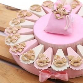 Torte Bomboniere Battesimo con Calamita Unicorno Peluche Bimba