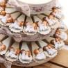Torta con Coppie Sposini Calamite per Bomboniere Matrimonio