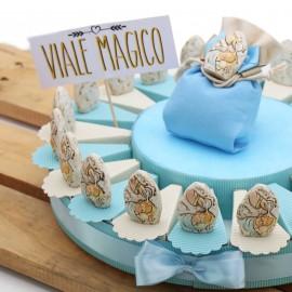 Torte Bomboniere con Pietra Battesimo Bimbo Confettata