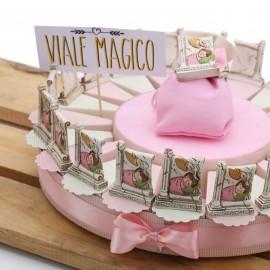 Torte Bomboniere con Icona Battesimo Bimba con Confetti