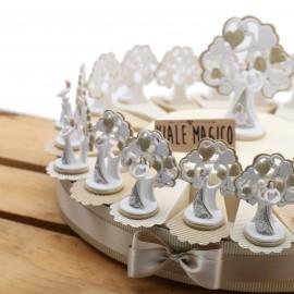 Torta Bomboniere Matrimonio Promessa Statuina Sposi Albero della Vita