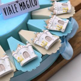 Torta Bomboniere con Magnete Corona Castello Prince Bimbo