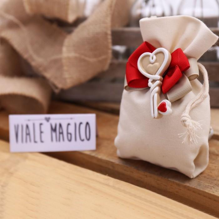 Bomboniere Confetti Matrimonio.Bomboniere Matrimonio Sacchetti Chiave Con Cuore Per Sposi