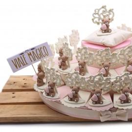 Torta Bomboniere Albero della Vita Orsetto Millecuori Bimba