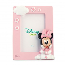 Bomboniere Disney Nascita Battesimo Portafoto Minnie Baby Bimba Rosa