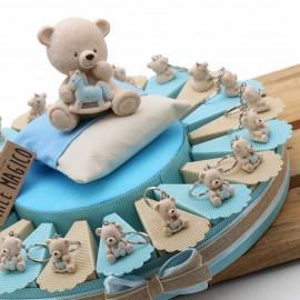 Torte Bomboniere Nascita con Orsetti Toys Bimbo Portachiave