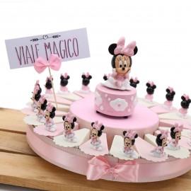Bomboniere Nascita Primo Compleanno Bimba Torta Disney Statuina Minnie