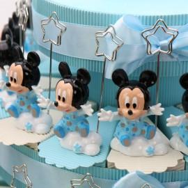 Torta Bomboniere Nascita Disney Memoclip Topolino Bimbo Nuvola