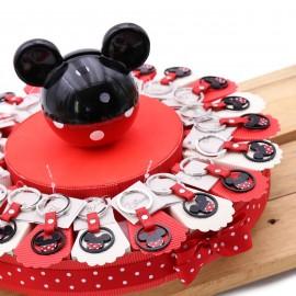 Torta Bomboniere Disney Portachiavi Sagoma Minnie Rosso Nero