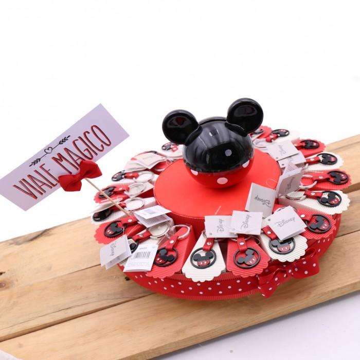 Torta Bomboniere Disney Portachiavi Sagoma Topolino Rosso Nero