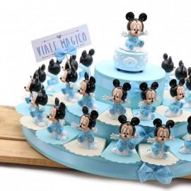 Torta Bomboniere Topolino Disney Compleanno Bimbo con Statuina Baby Orsetto