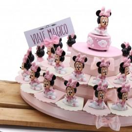 Torta Bomboniere Nascita con Statuina Maxi Minnie Baby Nuvola