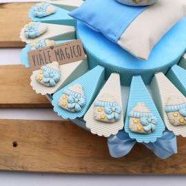 Torte Bomboniere Battesimo Nascita Calamita Biberon NinnaNanna Bimbo