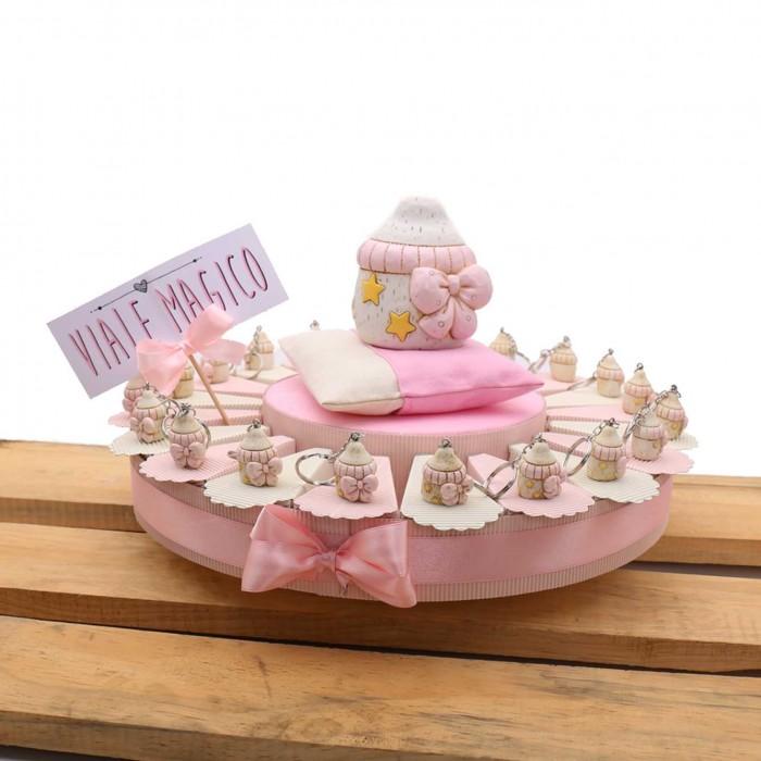 Torte Bomboniere Nascite Battesimo Portachiavi Biberon NinnaNanna Bimba