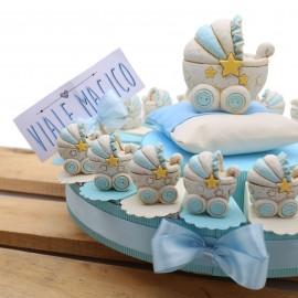 Torte Bomboniere Nascite Battesimi Statuina Carrozzina NinnaNanna Bimbo