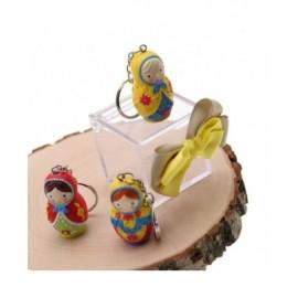 Bomboniere Compleanno Portachiave Confezionate Matrioske Colorate