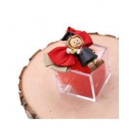 Bomboniere Laurea Confezionate Magnete Dottoressa Laureata su Plexiglass