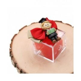 Bomboniere Laurea Confezionate Magnete Dottore Laureato su Plexiglass