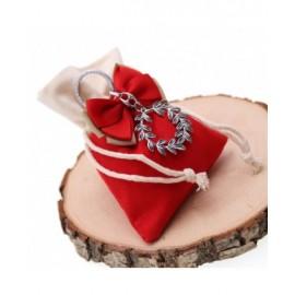 Bomboniere Laurea Confezionate su Sacchetto con Portachiavi Corona D'Alloro Retrò