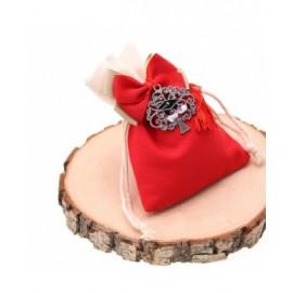 Bomboniere Laurea Confezionate su Sacchetto Albero della Vita con Tocco e Nappina