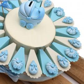 Torte Bomboniere Carrozzina Biberon Nascita Bimbo Alzatina Pensierini