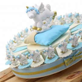Bomboniere Unicorno Battesimo Torta Bimbo Statuina Fantasy