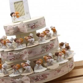 Bomboniere Matrimonio con Statuine Torta con Coppie Sposi Confettata