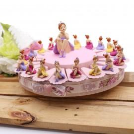 Bomboniere Comunione Danza Ballerina Princess Statuine su Torta Portaconfetti Bimba