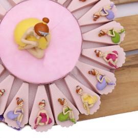 Torta Bomboniere Bimba Comunione Ballerina Princess Calamite Confettata