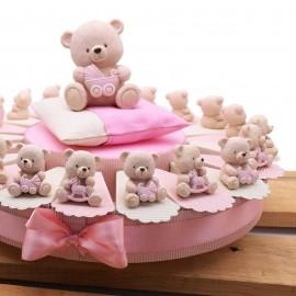 Torte Bomboniere Nascita con Orsetti Toys Bimba Statuina