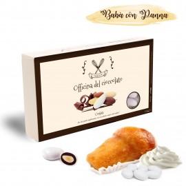 Confetti Officina del Cioccolato BABA' CON PANNA con mandorla tostata e crema