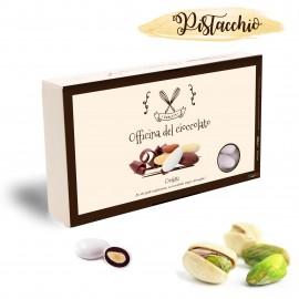 Confetti Officina del Cioccolato PISTACCHIO con mandorla tostata e crema