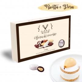 Confetti Officina del Cioccolato RICOTTA E PERA con mandorla tostata e crema