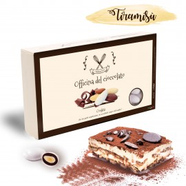 Confetti Officina del Cioccolato TIRAMISU' con mandorla tostata e crema
