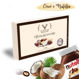 COCCONUT Confetti COCCO E NUTELLA alla Mandorla Officina del Cioccolato