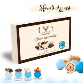CONFETTI Sfumati Celeste con Nocciola Mix 4 Gusti Officina del Cioccolato