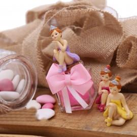 Bomboniere Comunione Statuina Ballerina Princess su Plexiglass con Confetti