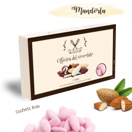 CONFETTI Rosa con Mandorla Officina del Cioccolato per Bimba
