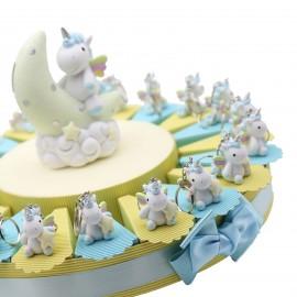 Portachiave Unicorno Moon Bimbo Torte Bomboniere Battesimo