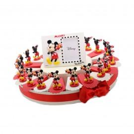 Torta Bomboniere Disney con Statuina d'appoggio Topolino con macchina da corsa per la Prima Comunione di un ragazzo