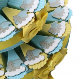 Magnete Piccolo Dumbo Torta Bomboniere Battesimo