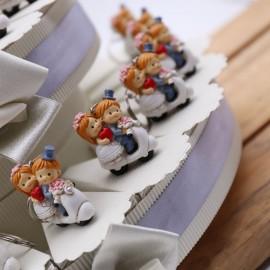 Portachiave Matrimonio Sposi in Vespa Torta Bomboniere