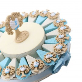 Bomboniere Nascita e Battesimo Su torta Con Magnete Albero della Vita Nascita