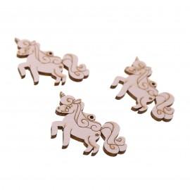 Unicorno Rosa Applicazioni in legno Fai da Te