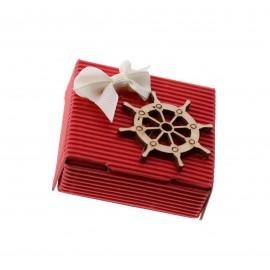 Bomboniere Tema Mare per Compleanno Scatoline con Confetti e Applicazione in legno