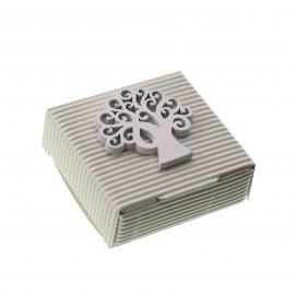 Scatoline con Applicazione in legno Albero della Vita per Bomboniere Segnaposto Matrimonio