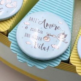 Bomboniere Personalizzate con foto e frase per la nascita di un Bimbo