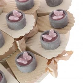 Torta Bomboniere con Candele Farfalla Pois Matrimonio Promessa Confettata Offerte