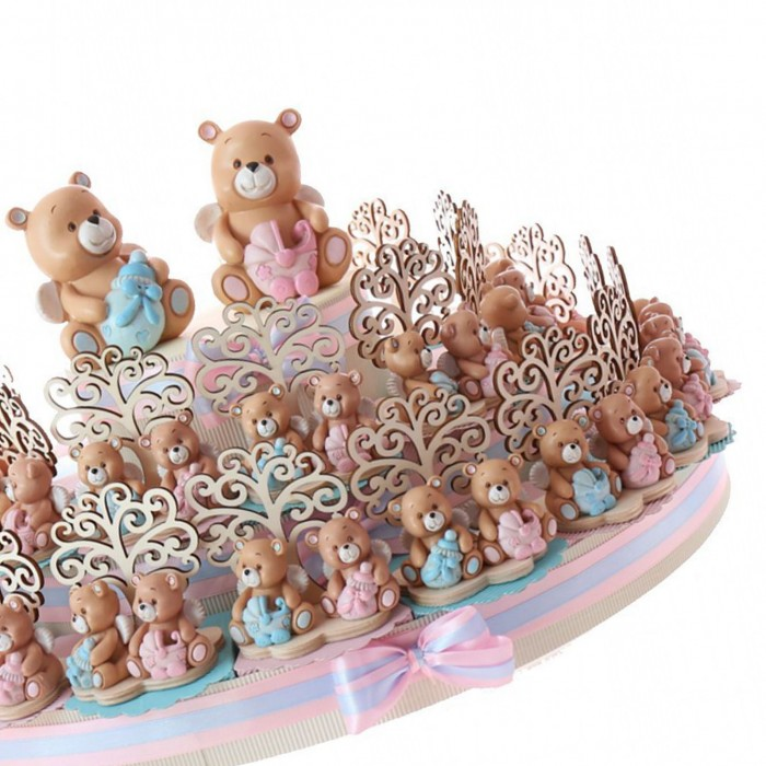 Torte Bomboniere per Battesimo Gemelli Maschi Femmine di ...