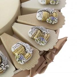 Torta Bomboniere Magnete Sacro Calice Comunione Oro